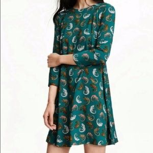 Adorable H&M Chameleon Print Shift Dress Size 6
